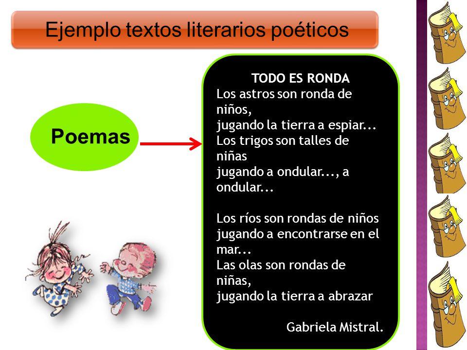 Ejemplo textos literarios poéticos