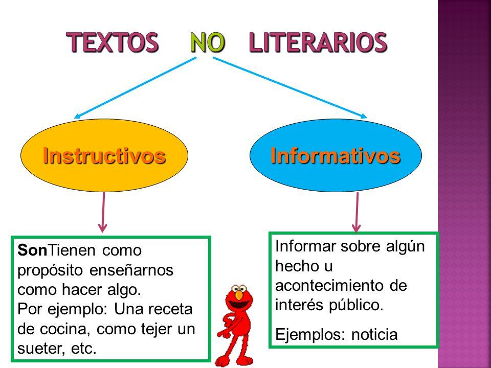 Textos no Literarios Instructivos Informativos