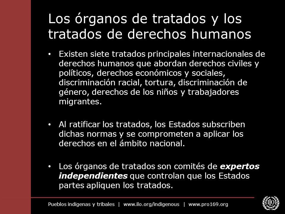Los órganos de tratados y los tratados de derechos humanos