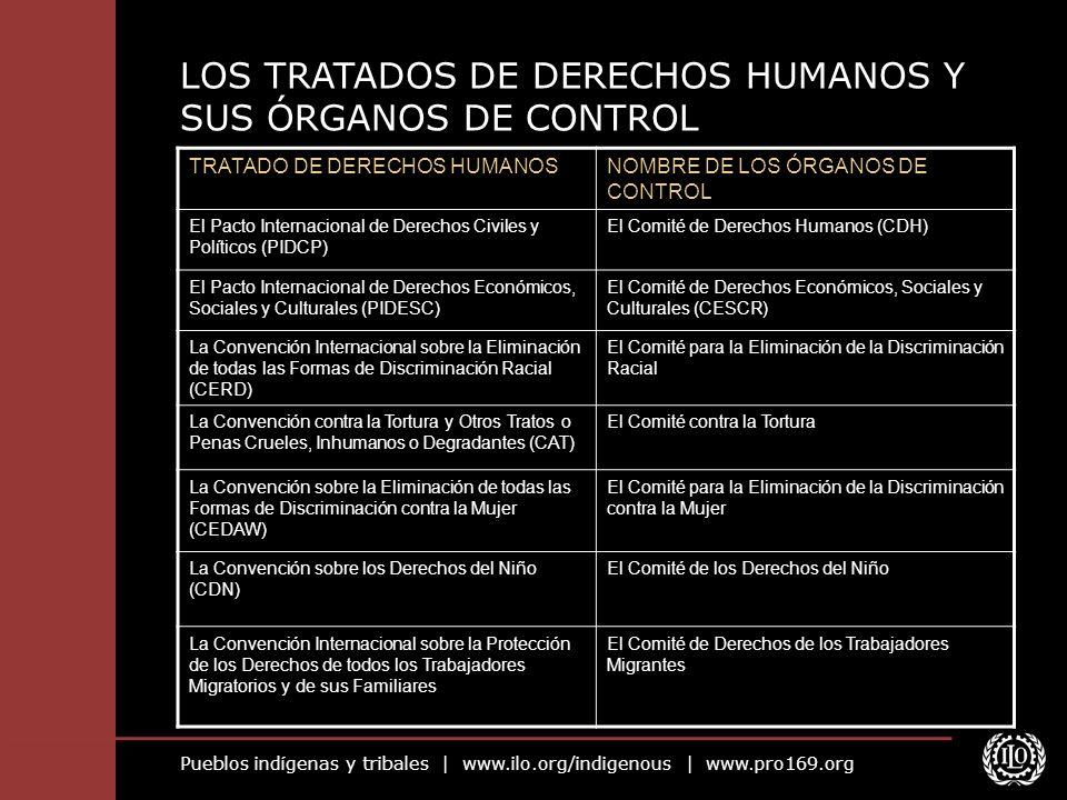 LOS TRATADOS DE DERECHOS HUMANOS Y SUS ÓRGANOS DE CONTROL