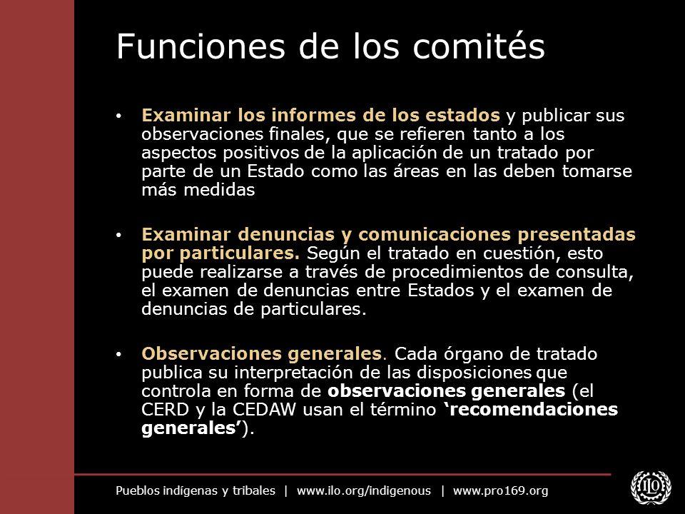 Funciones de los comités