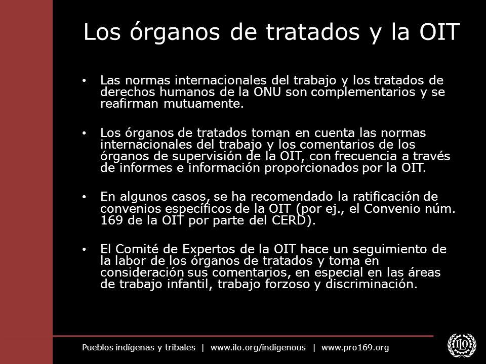 Los órganos de tratados y la OIT