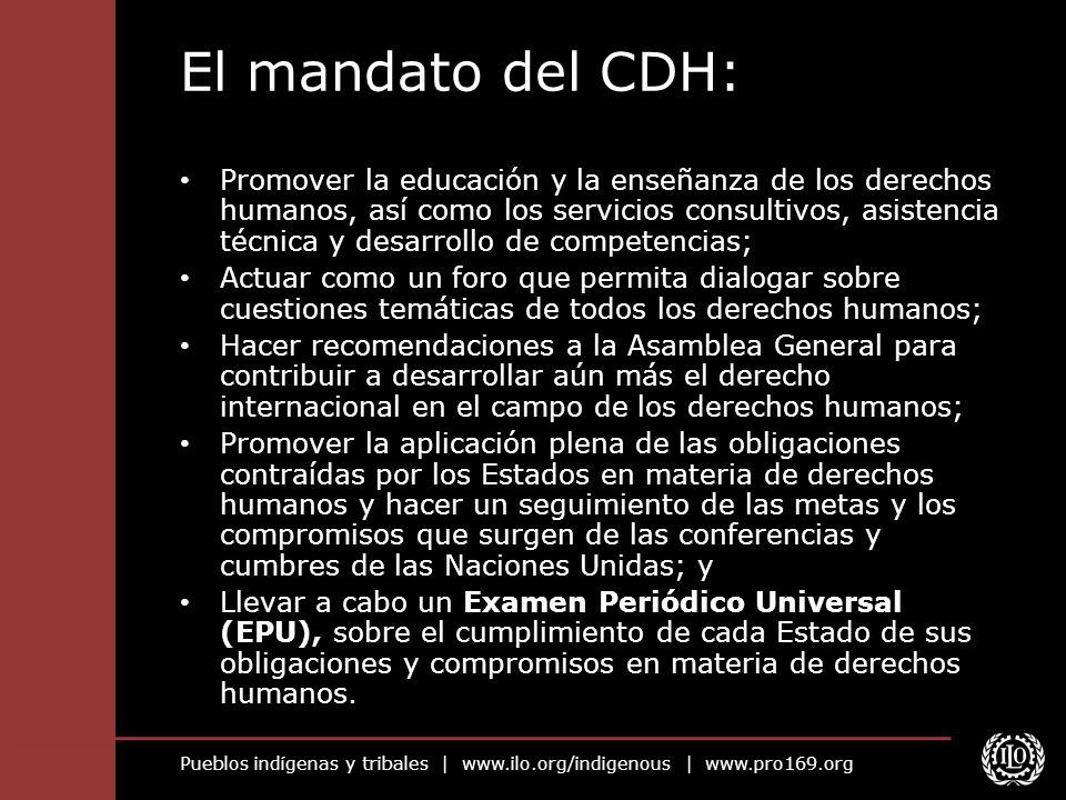 El mandato del CDH: