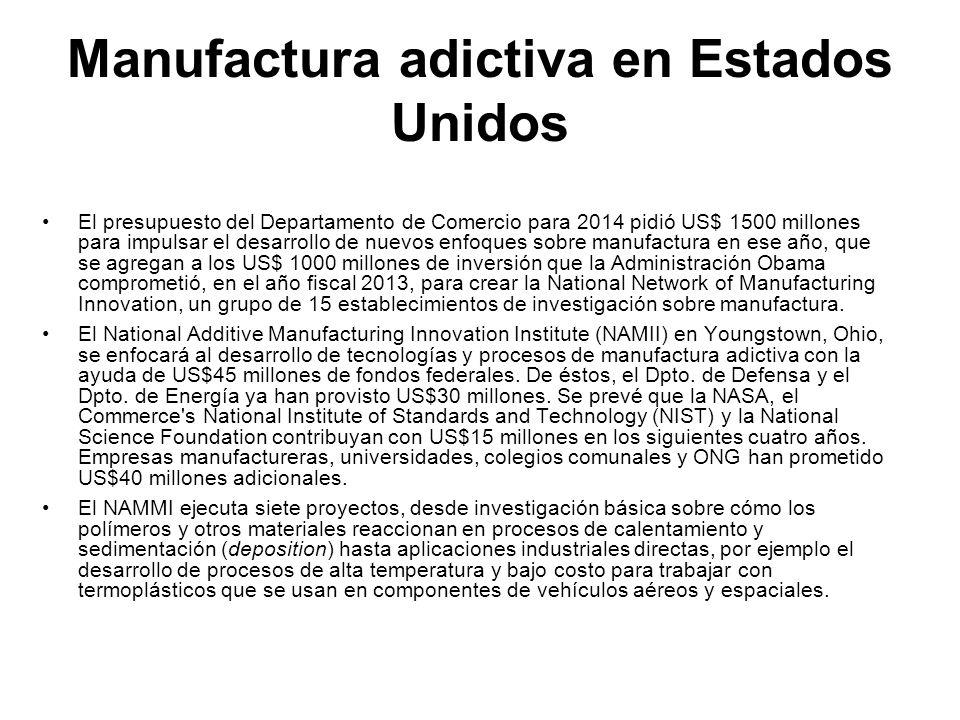 Manufactura adictiva en Estados Unidos