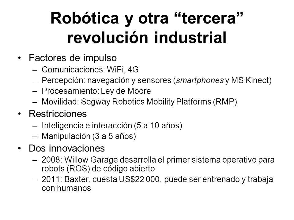 Robótica y otra tercera revolución industrial
