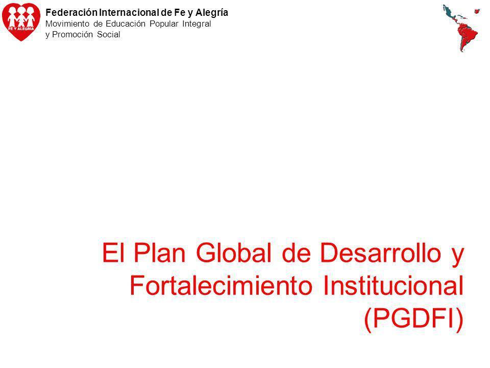 El Plan Global de Desarrollo y Fortalecimiento Institucional (PGDFI)