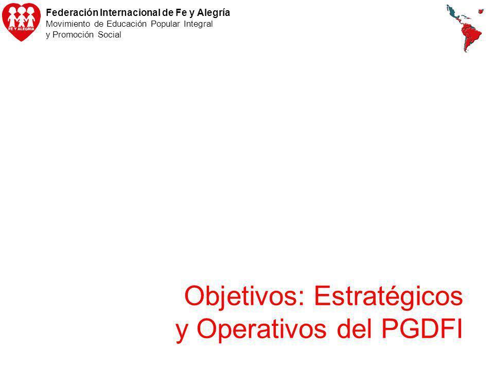 Objetivos: Estratégicos y Operativos del PGDFI