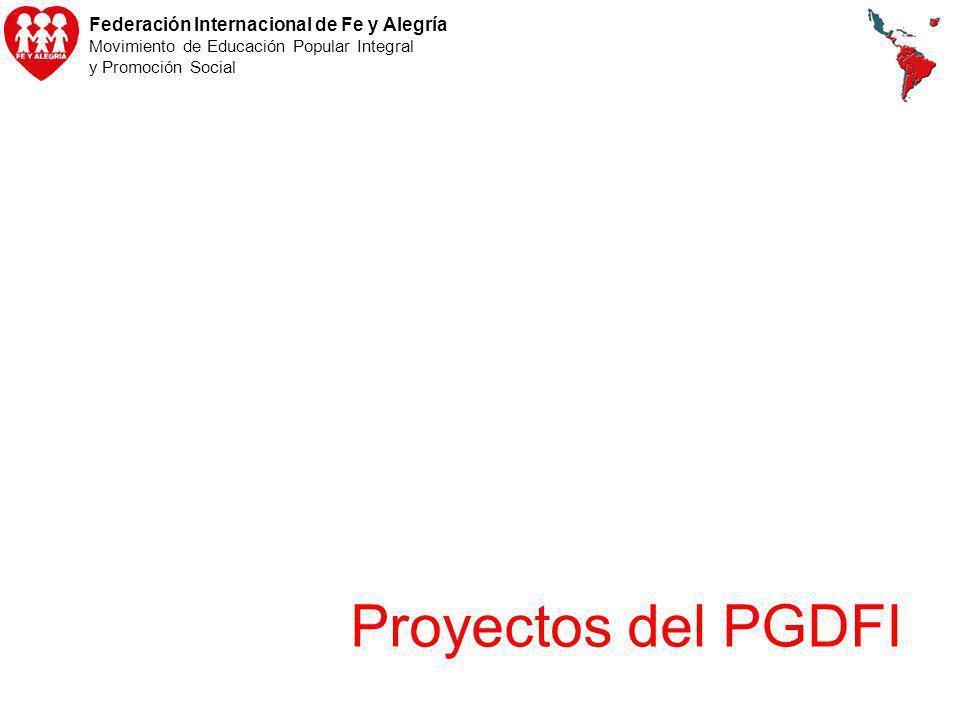Proyectos del PGDFI