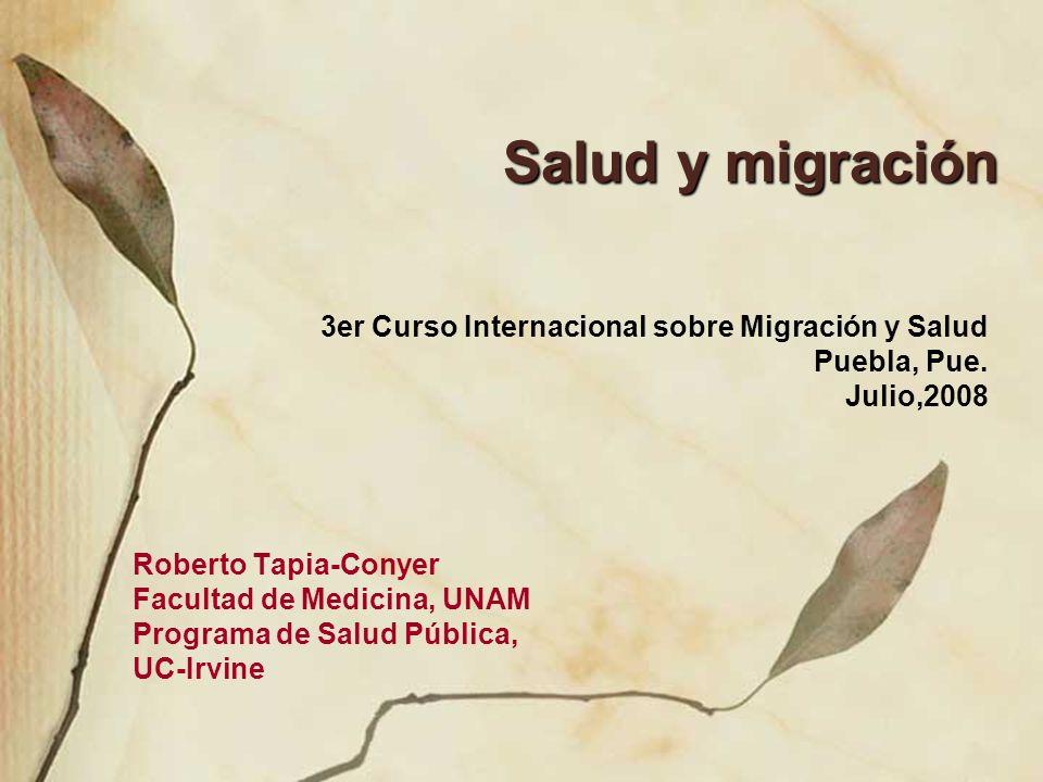 Salud y migración 3er Curso Internacional sobre Migración y Salud