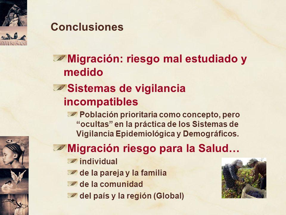 Migración: riesgo mal estudiado y medido