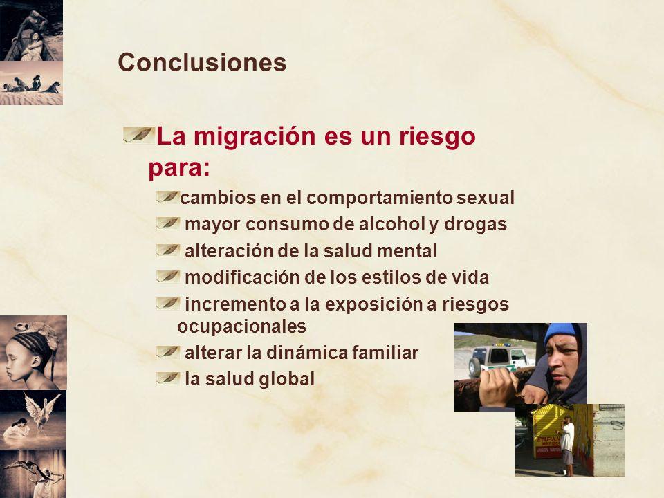 La migración es un riesgo para: