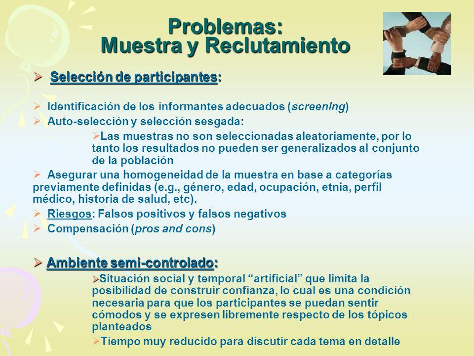 Problemas: Muestra y Reclutamiento