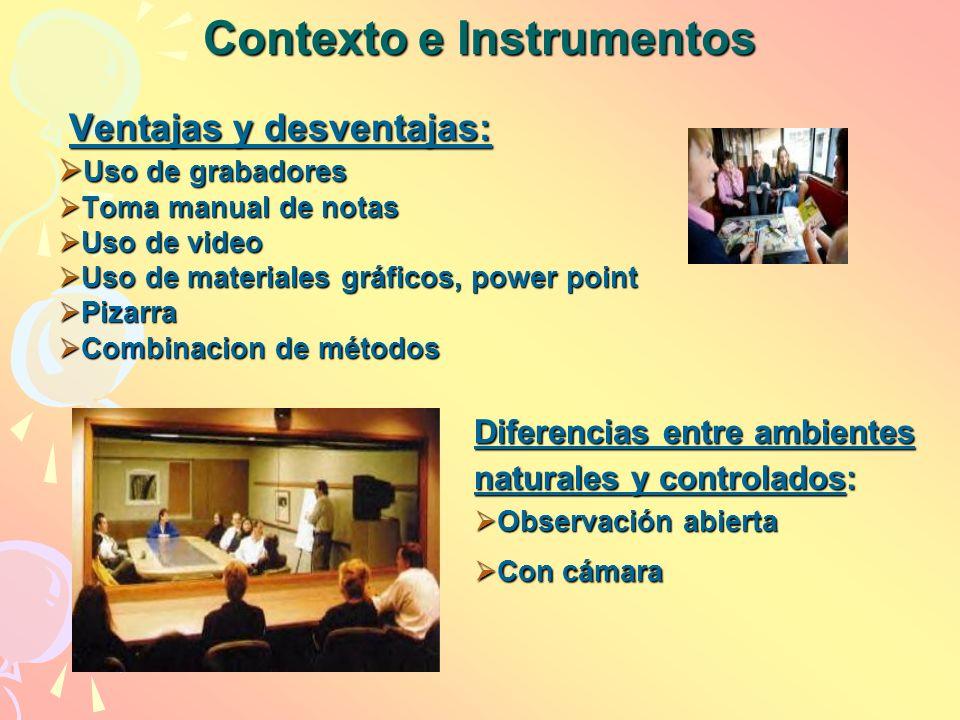 Contexto e Instrumentos