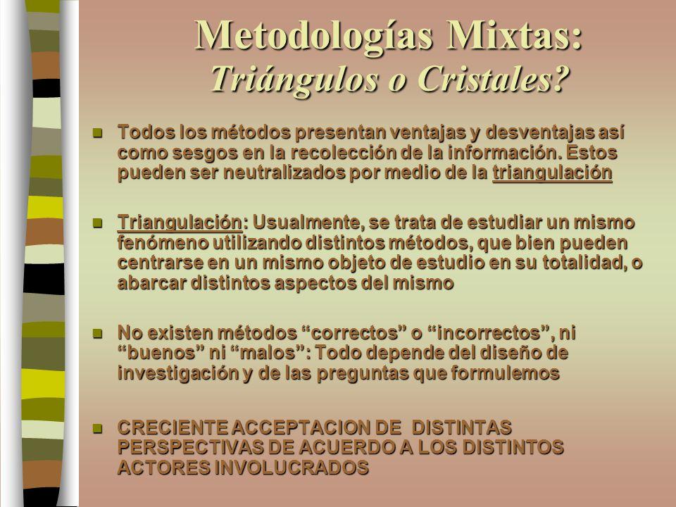 Metodologías Mixtas: Triángulos o Cristales