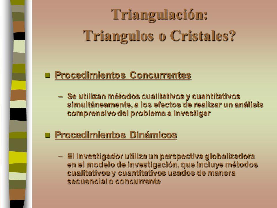 Triangulación: Triangulos o Cristales