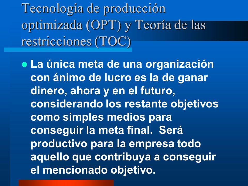 Tecnología de producción optimizada (OPT) y Teoría de las restricciones (TOC)