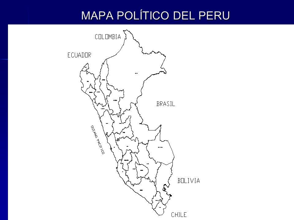 MAPA POLÍTICO DEL PERU