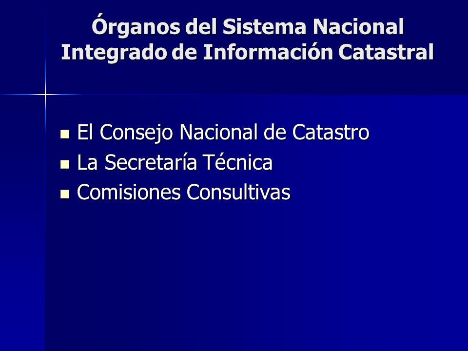 Órganos del Sistema Nacional Integrado de Información Catastral