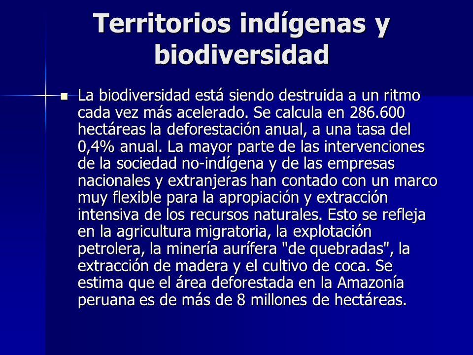Territorios indígenas y biodiversidad