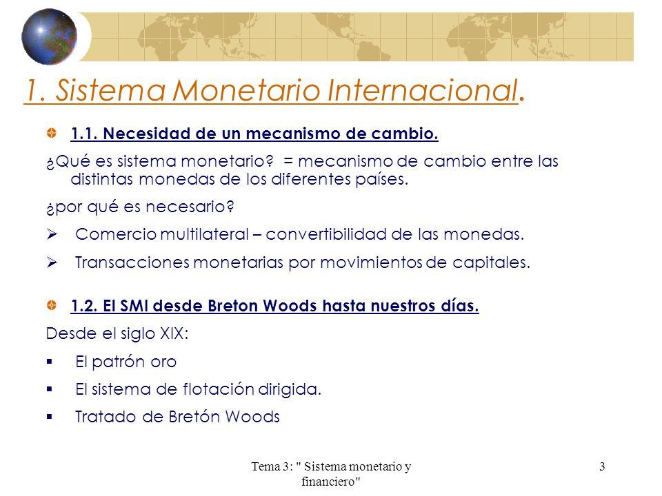 1. Sistema Monetario Internacional.
