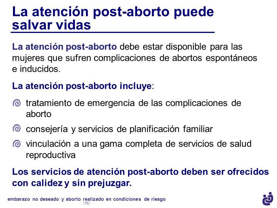 La atención post-aborto puede salvar vidas