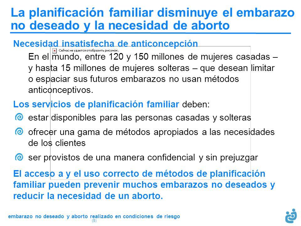 La planificación familiar disminuye el embarazo no deseado y la necesidad de aborto