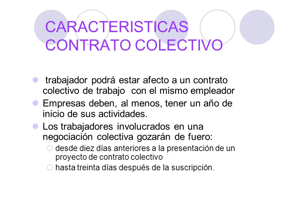 CARACTERISTICAS CONTRATO COLECTIVO