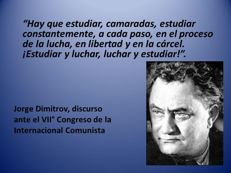 Jorge Dimitrov, discurso ante el VII° Congreso de la