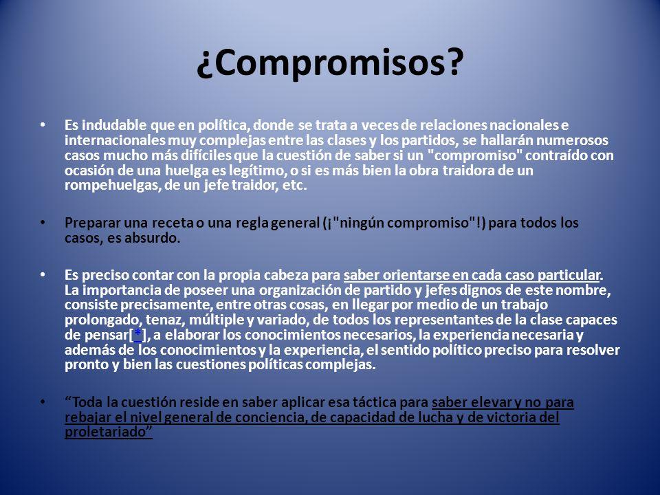 ¿Compromisos