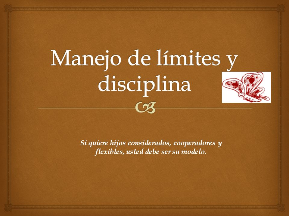 Manejo de límites y disciplina