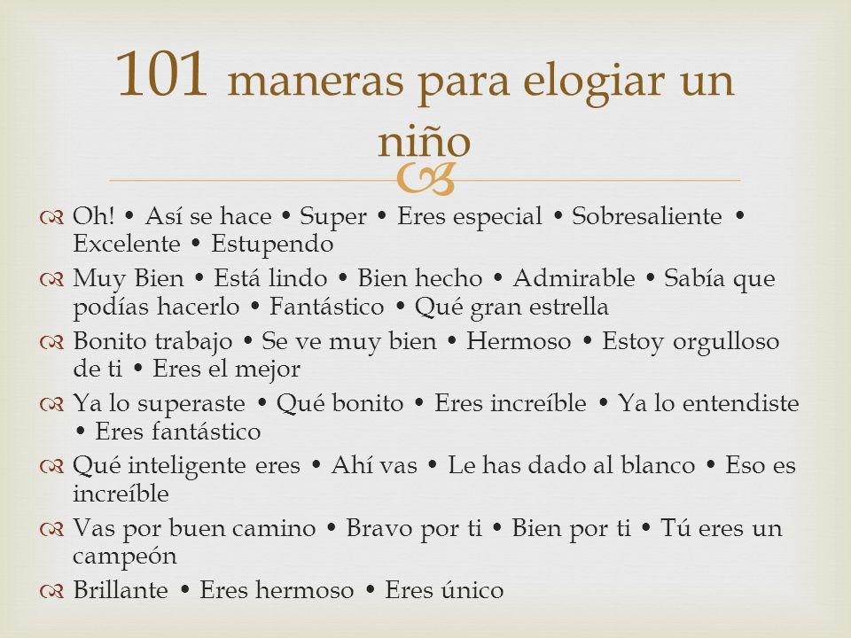 101 maneras para elogiar un niño