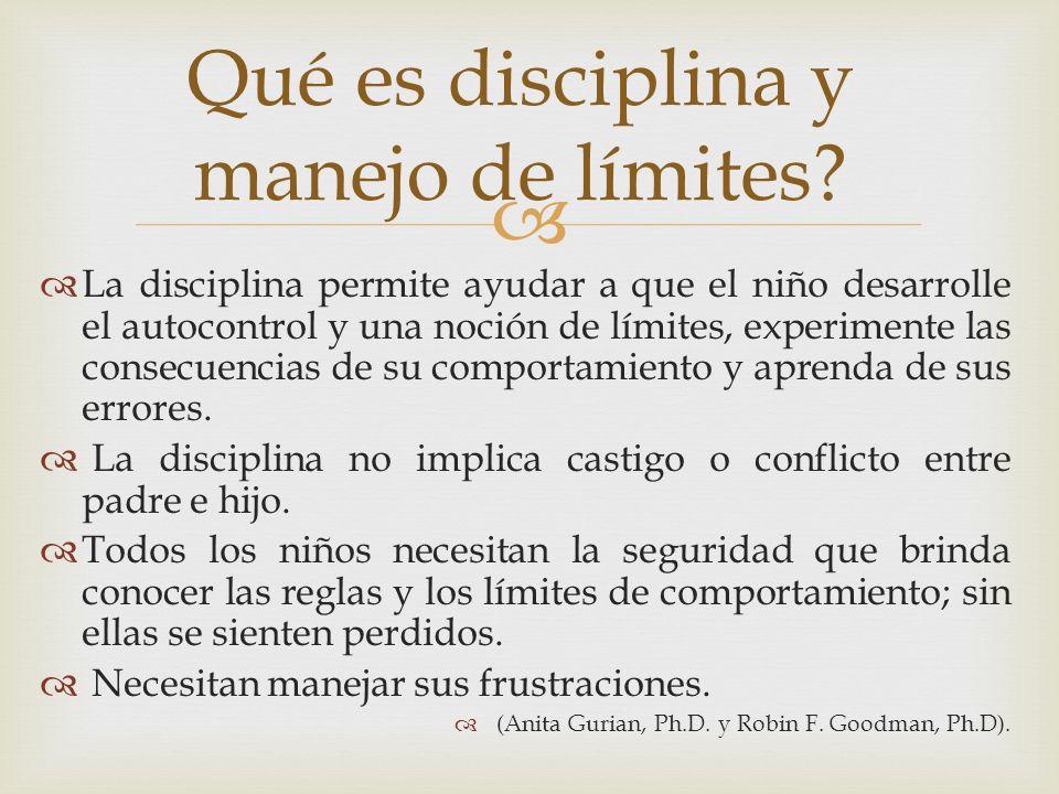 Qué es disciplina y manejo de límites