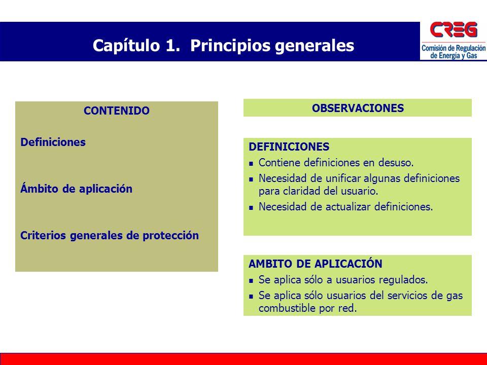 Capítulo 1. Principios generales