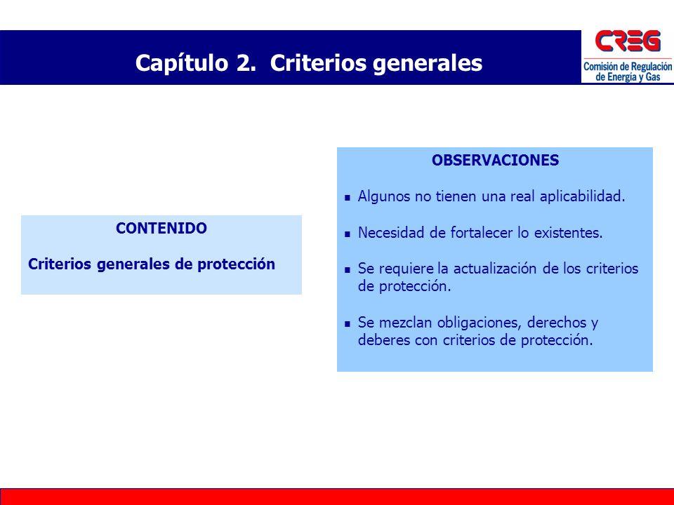 Capítulo 2. Criterios generales