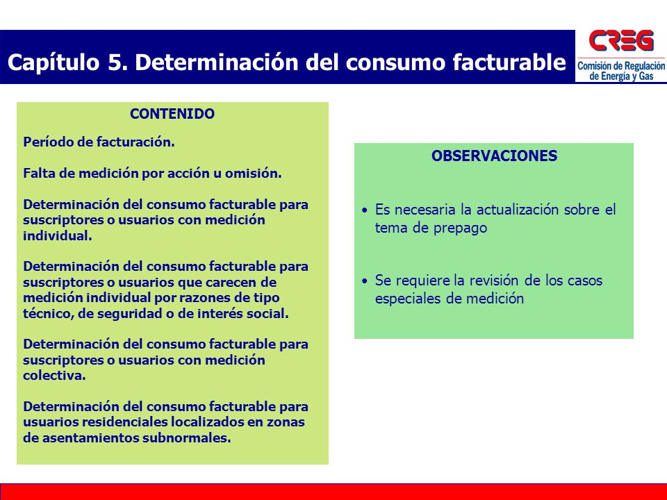 Capítulo 5. Determinación del consumo facturable