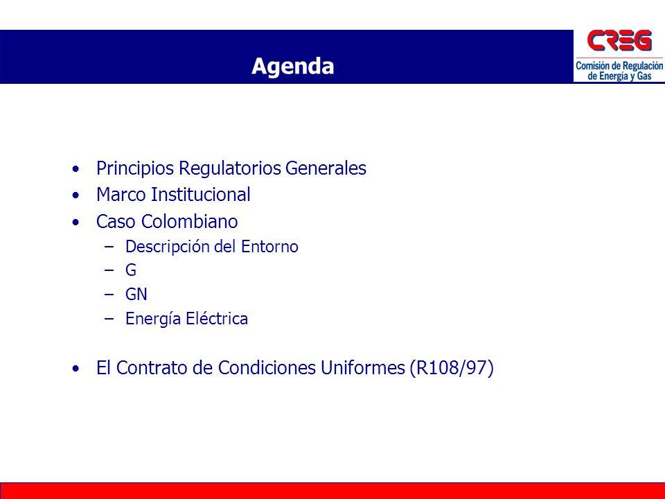 Agenda Principios Regulatorios Generales Marco Institucional
