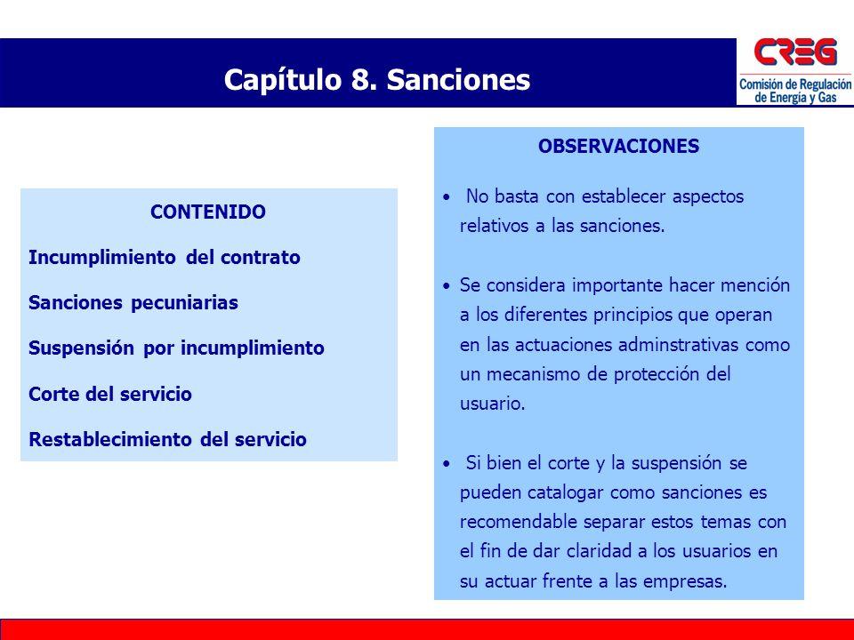 Capítulo 8. Sanciones OBSERVACIONES
