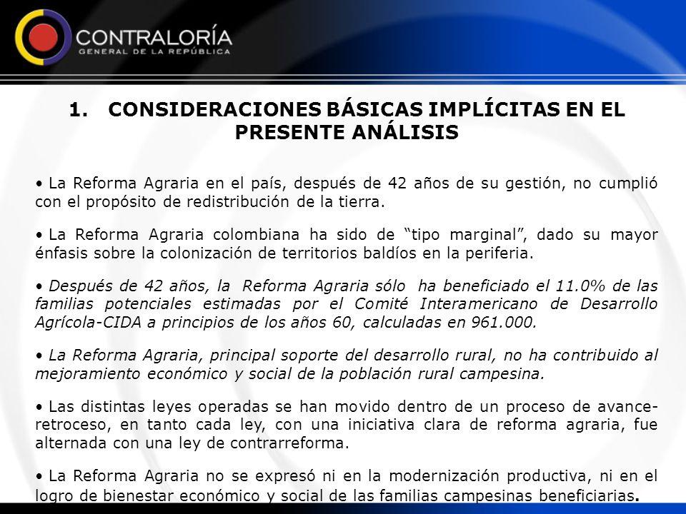 1. CONSIDERACIONES BÁSICAS IMPLÍCITAS EN EL PRESENTE ANÁLISIS