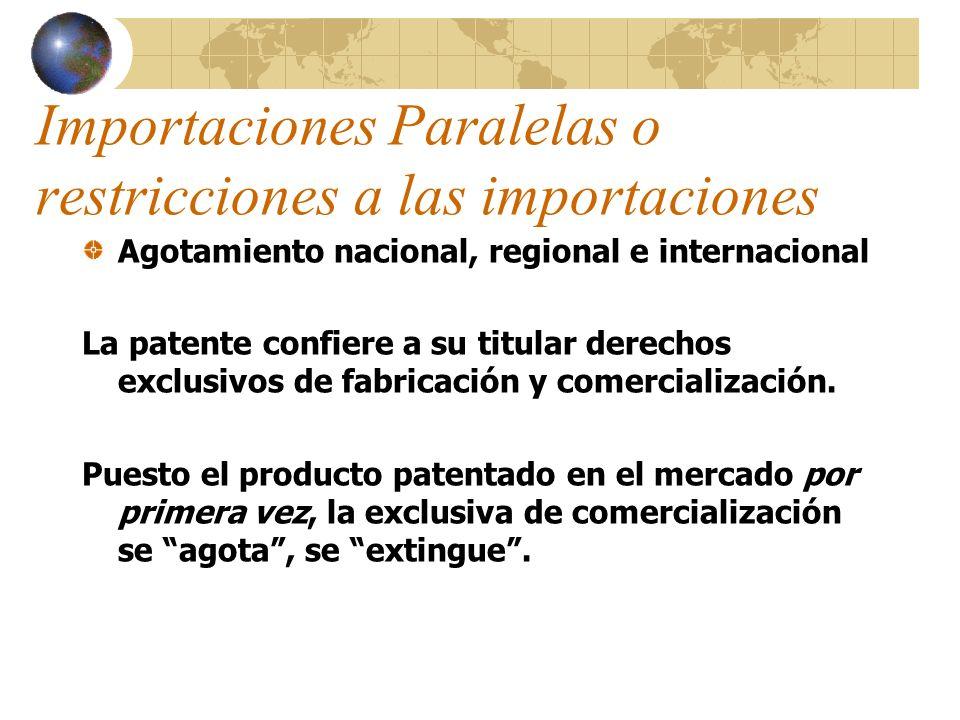 Importaciones Paralelas o restricciones a las importaciones