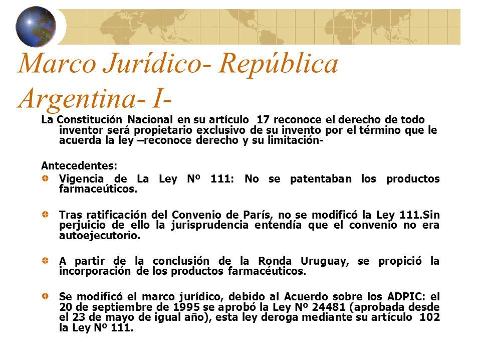 Marco Jurídico- República Argentina- I-