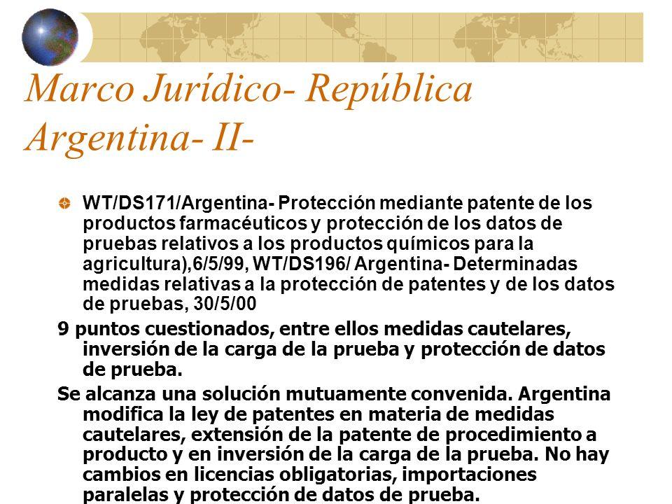 Marco Jurídico- República Argentina- II-