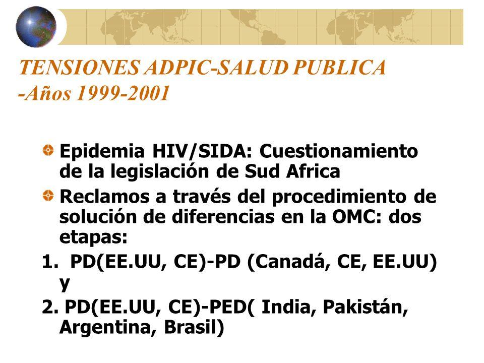 TENSIONES ADPIC-SALUD PUBLICA -Años 1999-2001