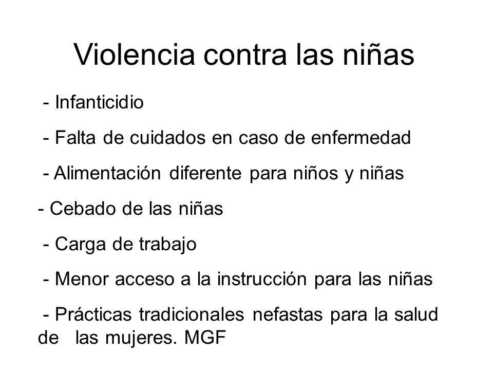 Violencia contra las niñas