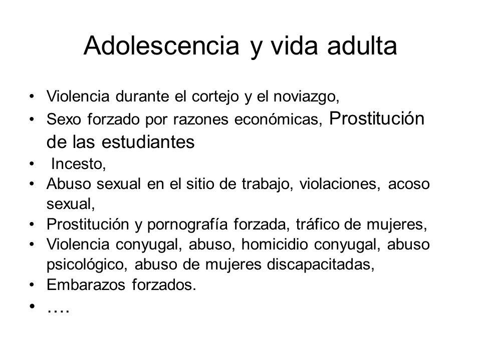 Adolescencia y vida adulta