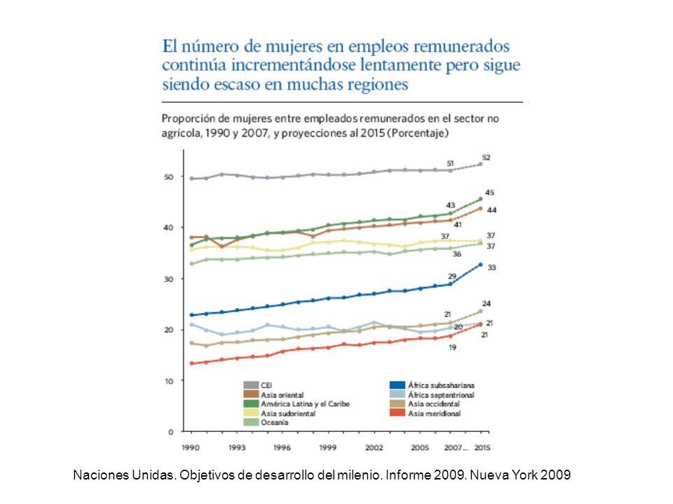 Naciones Unidas. Objetivos de desarrollo del milenio. Informe 2009