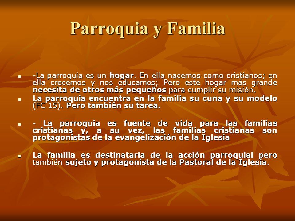 Parroquia y Familia