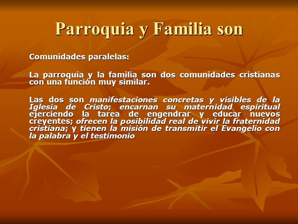 Parroquia y Familia son