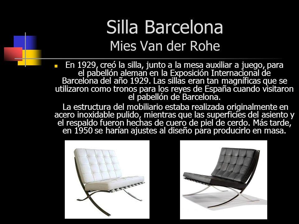 Bauhaus movimiento moderno lucia taul utn noviembre - Silla barcelona mies van der rohe ...