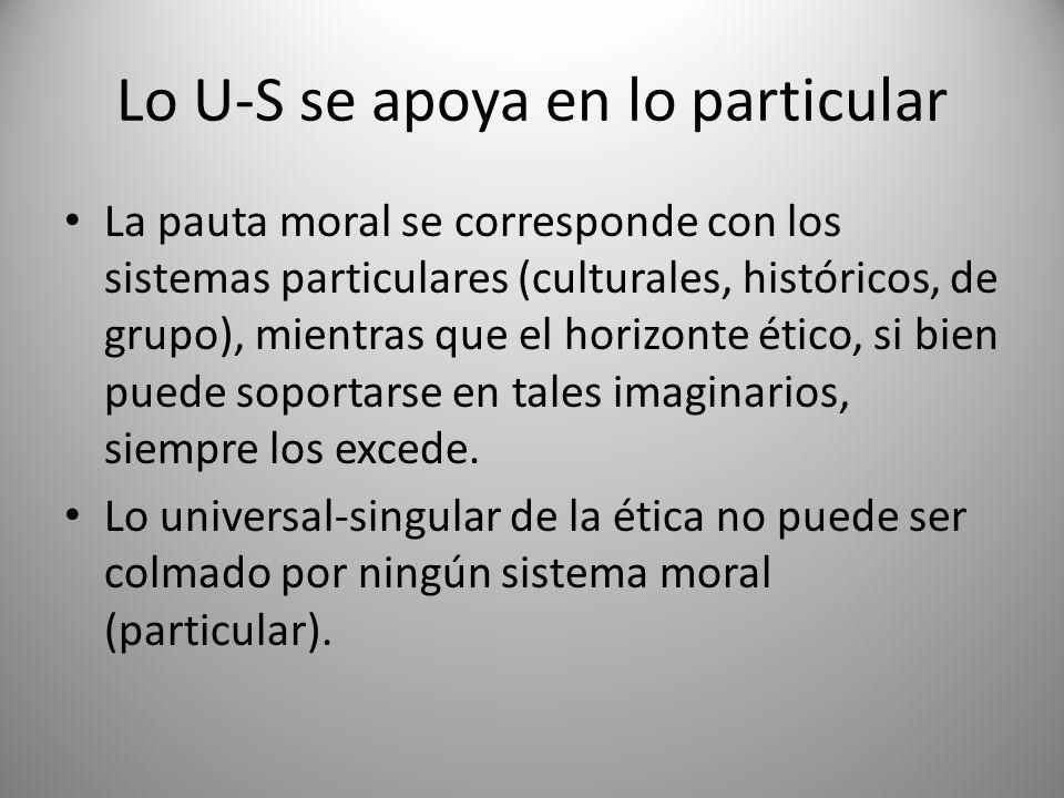 Lo U-S se apoya en lo particular