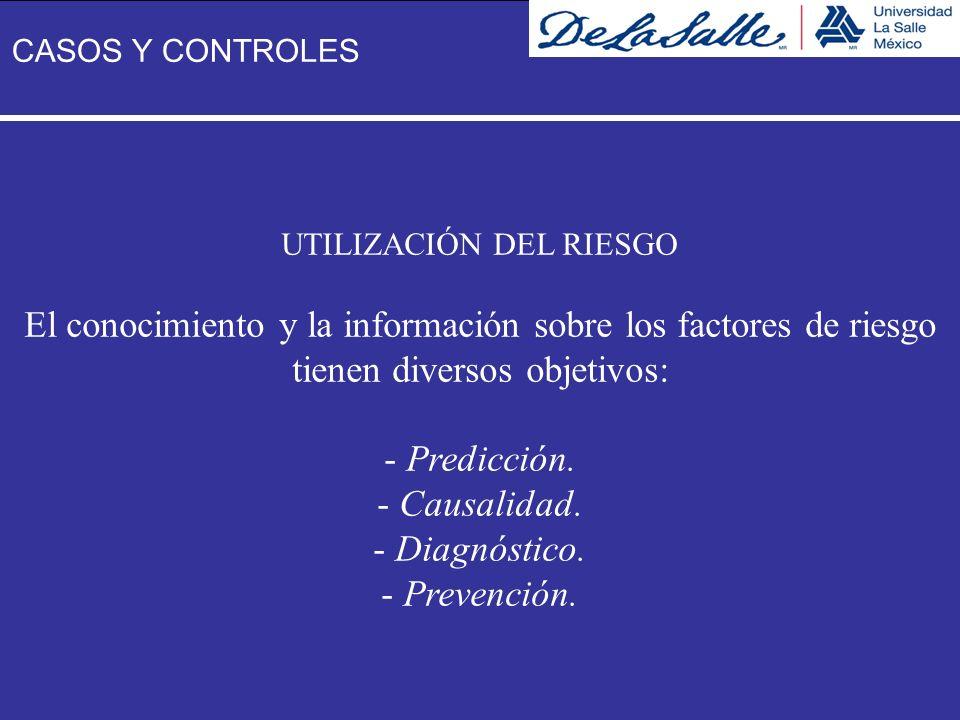 El conocimiento y la información sobre los factores de riesgo